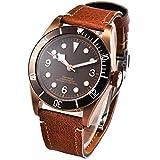 41mm Corgeut ottone PVD caso zaffiro vetro automatico meccanico orologio da uomo