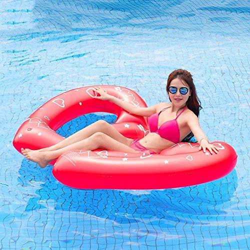 YLJYJ Juguetes inflables Fila Flotante de corazón Rojo de Verano, Anillo de natación para Adultos, Cama Flotante, sillón, Flotador de Agua, Juguetes, Playa, P (Juguetes para Piscina)