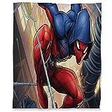 ARYAGO Manta de microfibra de lujo de 130 x 180 cm, manta de franela de Spiderman, para cama, sofá, sofá de viaje, cómics, escarlata Spider Man