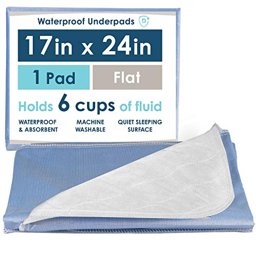Washable Waterproof Mattress Sheet Protector Bed Underpad - Large 36 x 54 inches with Tuck-Ins