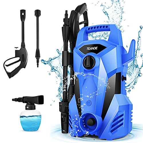 TEANDE 2300PSI Pressure Washer 2.2GPM Electric Pressure Washer Car Power Washer High Pressure Washer Machine with Spray Gun, Pressure Hose(Blue)