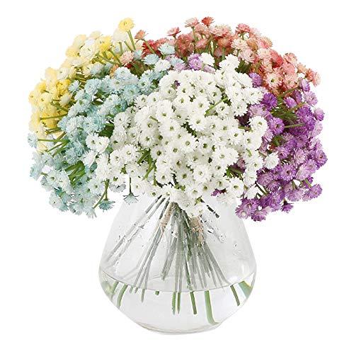 VINFUTUR 6 Bündel Kunstblumen Gypsophila Künstliche Blumensträuße Blumenarrangement für Basteln Hochzeit Party Homedeko