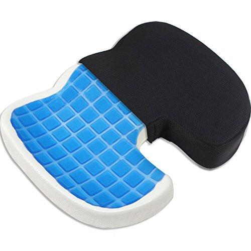 Proveon Gel-Sitzkissen – Steissbeinkissen aus Visco-Memory-Schaum
