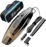 Hikeren Mini Hand-held Automotive Vacuum, 12V Wet&Dry Portable Vacuum...