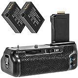 Meike - Empuñadura de batería compatible con Canon 750D, 760D con 2 baterías LP-E17, 950 mAh