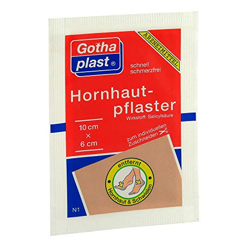 GOTHAPLAST Hornhautpflaster 6x10 cm 1 St