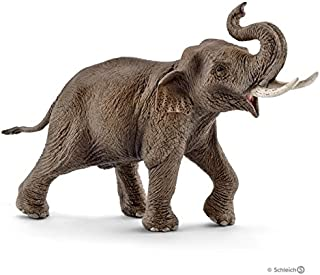 Schleich Asian Elephant Male Toy Figure, Brown, 14754