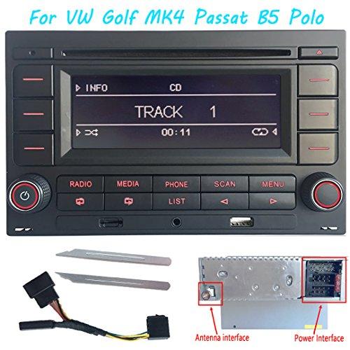 Radio de coche estéreo de audio RCN210 para VW Golf MK4 POLO...