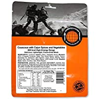 EXPEDITION FOODSexpeditionfoods.com Vegan Couscous with Cajun Spices and Vegetables | Freeze-Dried Camping & Hiking Food| High Energy Serving |800kcal Meal
