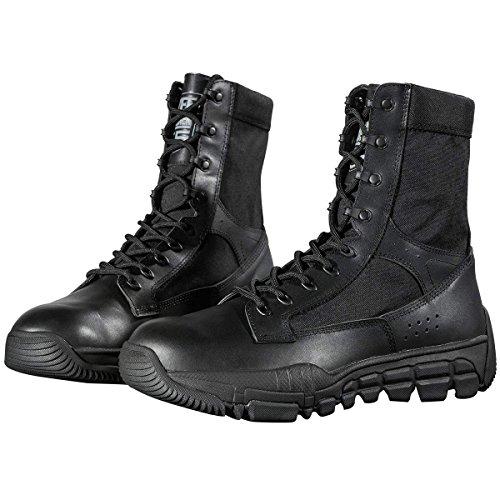 """FREE SOLDIER Botas de combate militares para hombres Botas de cordones militares de 8""""con cordones de gamuza para trekking Montañismo Motos de trabajo Ligero Pattet Patrol Boot (Negro,39 EU)"""