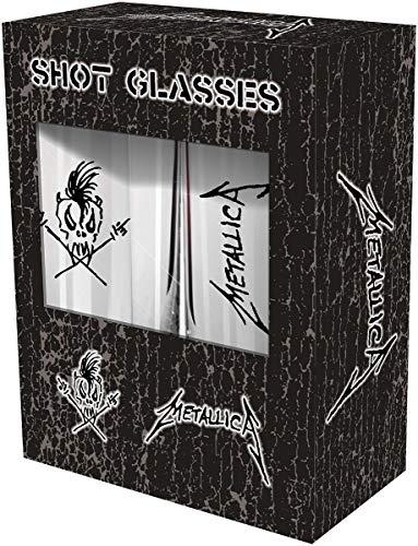Metallica Scary Guy Unisex Set vasos chupito transparente, vidrio,