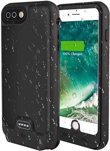 Funda de batería para iPhone 8 Plus/iPhone 7 Plus, 4800 mAh, funda de carga portátil protectora de cuerpo completo para Funda de batería externa de 5.5 pulgadas - Versión de actualización