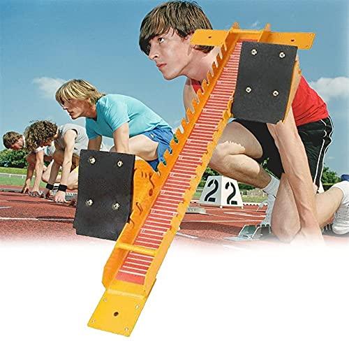 BaiHQF Tacos de Salida - Atletismo - Sprint, Se Puede Ajustar Libremente, Fuerte y Duradero, no es Fácil de Oxidar para Aplicaciones Pista de Plástico, Arena