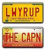 Breaking Bad   THE CAPN + LWYRUP   Metal Stamped License Plates...
