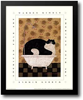 Cat in Hot Tin Tub 12x14 Framed Art Print by Kimble, Warren