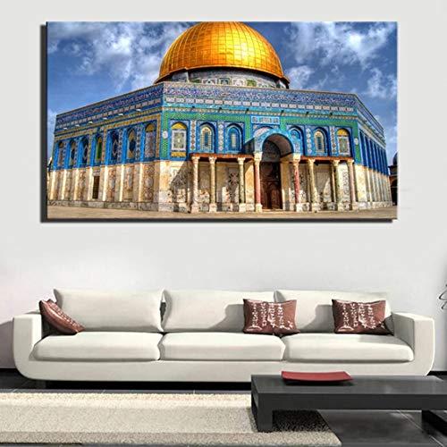 Danjiao Berühmte Gebäude Golden Rock Grand Canvas Malerei Plakate Und Drucke Wandkunst Für Wohnzimmer Home Decor Cuadros Wohnzimmer 60x90cm