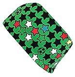 Wollhuhn ÖKO Cooles elastisches Stirnband, FUSSBALL grün/schwarz (aus Öko-Stoffen, bio) für Jungen und Mädchen, 20180535