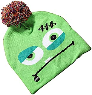 SODIAL LED Halloween Glowing Knit Cap Hat Christmas Sweater Beanie Light Up Knitted Hat Halloween Adult Christmas Party Mud Geek