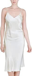 Women's Luxury Silk Sleepwear 100% Silk Full Slip Chemise Lingerie Nightgown
