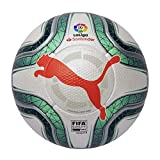 Puma LaLiga 1 (FIFA Quality Pro) Ballon De Foot Mixte Adulte, White-Green Glimmer-NRGY Red, 5