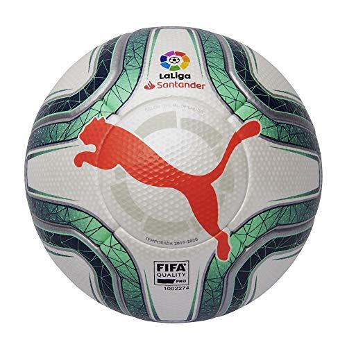 Puma Laliga 1 (FIFA Quality Pro) Fußball Unisex Erwachsene, Unisex, 83396, grau (Puma White-Green Glimmer-NRGY Red), 38