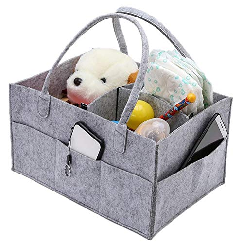 Cxssxling - Cesta de pañales plegable para bebé, de fieltro, 35 x 23 x 18 cm