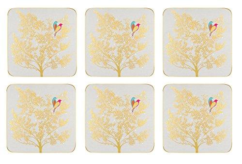 Portmeirion Home & Gifts Chelsea Lot de 6 sous-Verres en céramique Multicolore 10 x 10 cm