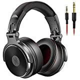 OneOdio Over Ear Headphone Closed-Back DJ Studio Headphones for Monitoring and Mixing, Soft Protein Leather Earcups, Noise Isolation, 90° Rotatable Housing, Portable (Upgraded Version) (Black)