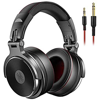 OneOdio Adapter-Free Over Ear Headphones for Studio Monitoring and Mixing Sound Isolation 90° Rotatable Housing with Top Protein Leather Earcups 50mm Driver Unit Wired Headsets with Mic  Pro-50