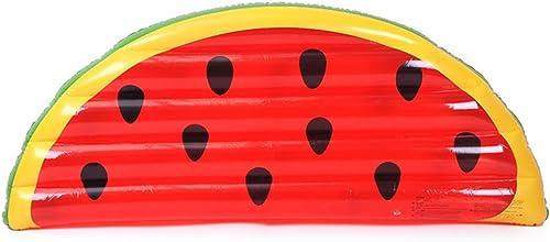 Rangée flottante Demi tranche de pastèque Rangée flottante gonflable Tour d'eau PVC Lit flottant lit d'eau rouge enfant adulte
