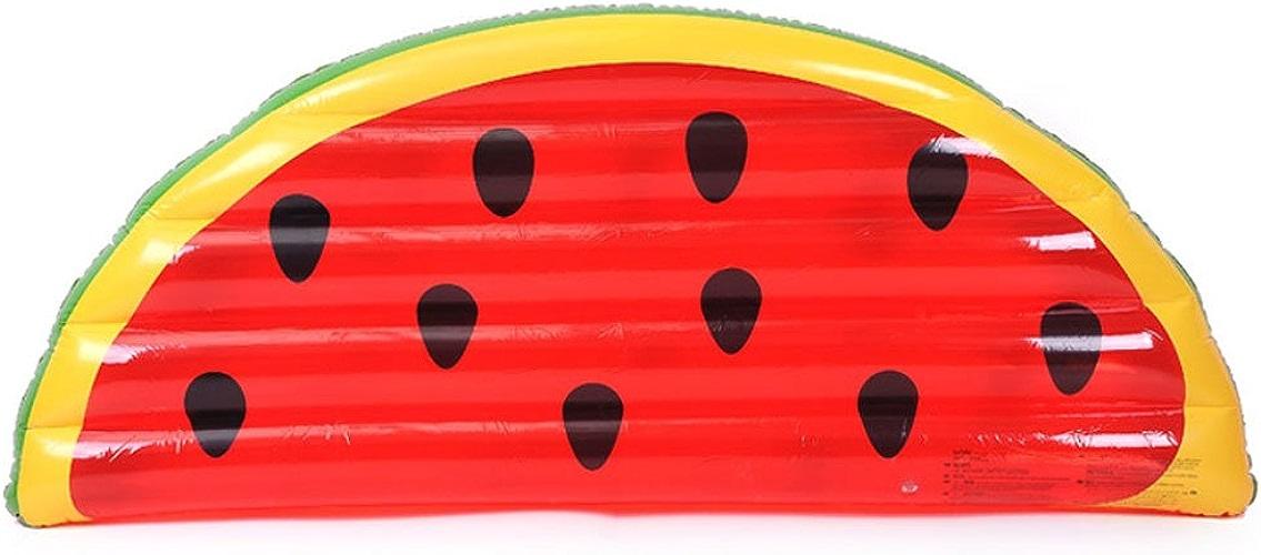 Longwei Rangée flottante Demi tranche de pastèque Rangée flottante gonflable Tour d'eau PVC Lit flottant lit d'eau rouge enfant adulte