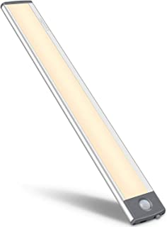 Motion Sensor Closet Light 54 LED Under Cabinet Night Lighting, 2500mAh Rechargeable Ultra Thin Magnetic Closet Lighting, ...