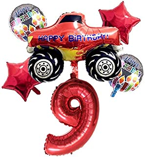 Hot-New-Ballons & Accessories - 6pcs Blaze And The Monster Machines Foil Ballon Happy Birthday Party Decoration Ball Boy G...