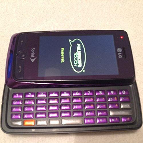 Sprint LG Rumor Touch No Contract Purple QWERTY Phone