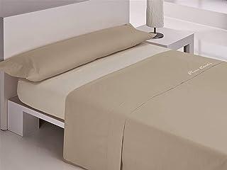 comprar comparacion Pierre Cardin Juego sábanas coralina Colorado 150 cm. Camel, 100Percent_poliéster, Cama de 150