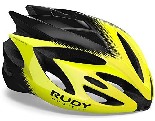 Rudy Project Rush - Casco de Bicicleta - Amarillo/Negro Contorno de la...