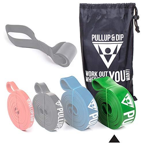 PULLUP & DIP Bandes de Résistance Bande Élastique, Bandes de Traction, Pull-Up, Bande de Fitness (Strong (Vert))