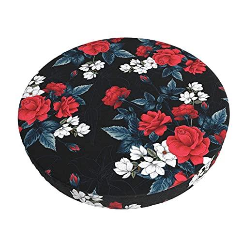 Fodera Per Cuscino Per Sedia Da Bar Rotondo Fodera Per Sgabello Da Bar Rotondo Vintage Flowers Con Cuscino Per Sedia Rotondo In Tessuto Elastico