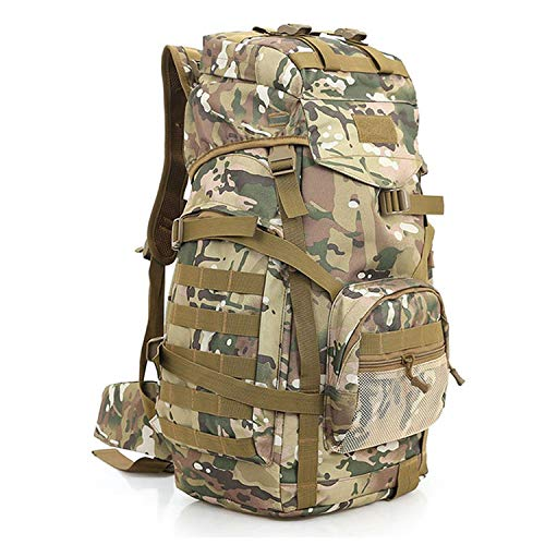 OASIS LAND 60L Camping Rucksack Bag Backpack Large Waterproof Backpacks Camouflage Hiking Outdoor Bags-CPcamouflage-OneSize