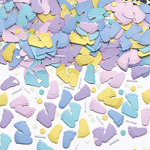 amscan International Confetti Motif Pieds Argenté 14 g
