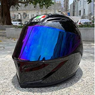 TODNJMZ Motorcycle Helmet Man Riding Car Four Seasons Cool Motorcycle with Tail Motocross