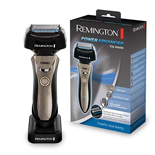 Remington Power Advanced F9200 - Afeitadora de Láminas, Cuchillas de Titanio, Inalámbrico, Lavable, Litio, Negro
