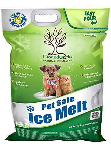 Groundworks All Natural Child Pet Plant and Concrete Safe Fast Acting Ice Melt 22 Pound Bag