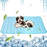 KLEECARM Cooling Mat, Pet Cooling Pad for Dogs Cats Breathable Ice Silk Self Cooling Pet Bed Washable Comfort Pad Blanket Sleep Mat Ideal for Home Travel Car (40' x 28')