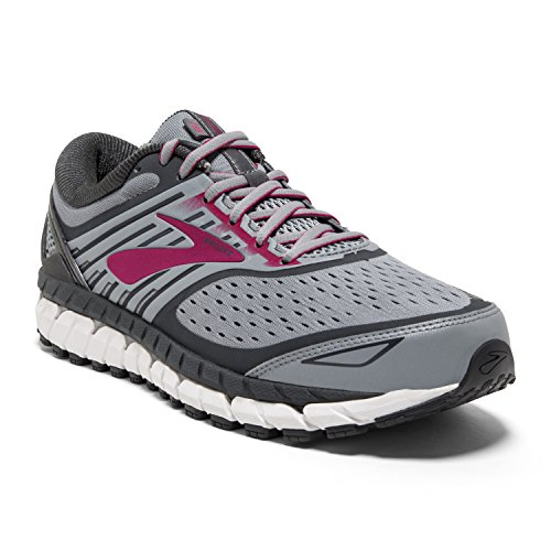 Brooks Womens Ariel '18 - Grey/Grey/Pink - 8.0-2E X-Wide