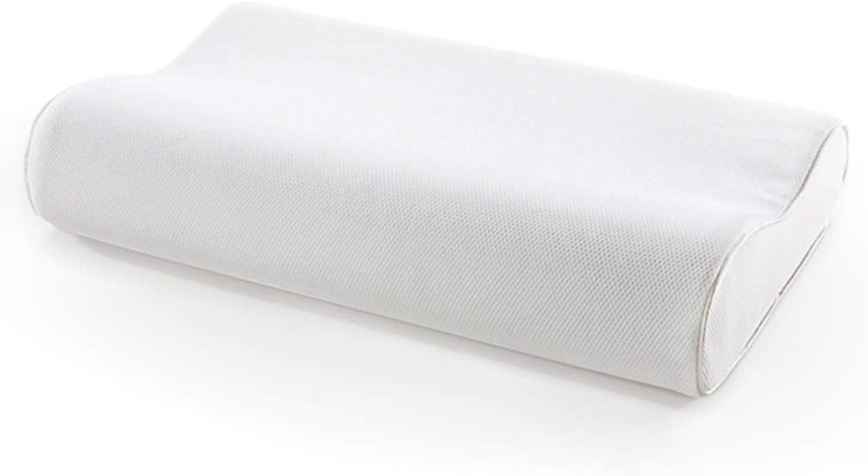 Fenfatuqiang Oreiller Cervical Mémoire Oreiller Oreiller Oreiller Oreiller Aide Dormir Lent Rebond Haut Cou Adulte Oreiller Simple (Couleur   blanc, Taille   55  32  10.5CM)