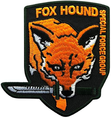 "Metal Gear Fox Hound Special Force Original Logo Patch [""Velcro Brand"" Fastener - FY1]"