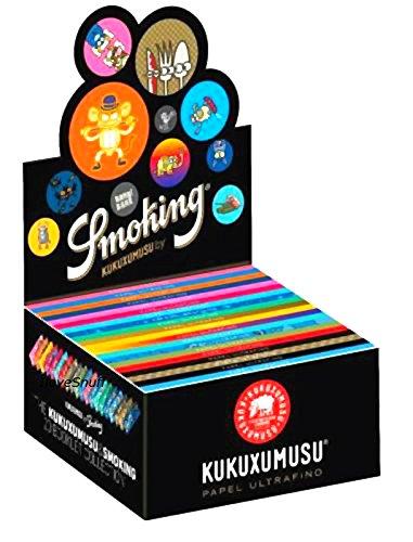 Smoking KUKUXUMUSU 1 Box King Size Papers 50 x 33 Blättchen Long Papers mit 20 unterschiedlichen Motiven Original®