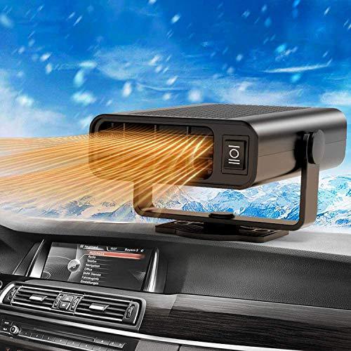Parka Tragbar Windschutzscheibe, Auto Heizung Defroster 12V 150W Winter Auto Lüfter Tragbare Auto Heizung 2 in 1 Auto Heizung und Kühlventilator Überhitzungsschutz Auto Defroster Demister