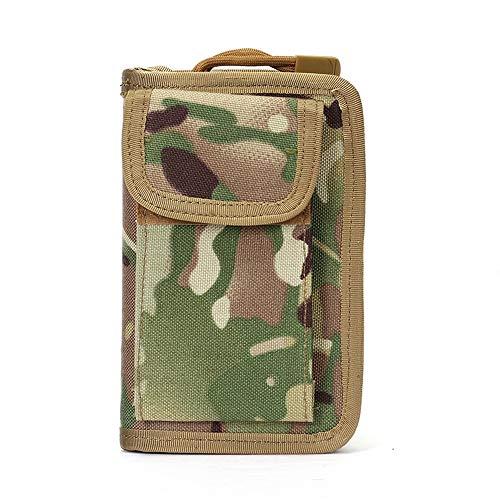 Haowenzhen Tactical Kupplung Außen Multifunktionale wasserdichte Handy-Beutel-Männer Mittel- und lang Leinwand-Karten-Kasten-Mappe (HWZ-LN-BG05255-cp)